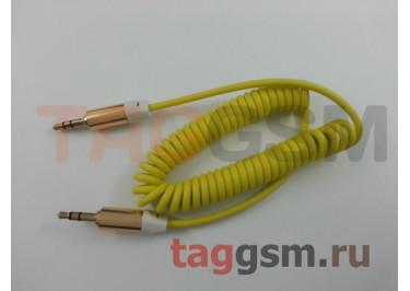 Аудио-кабель aux пружинка STS, в ассортименте