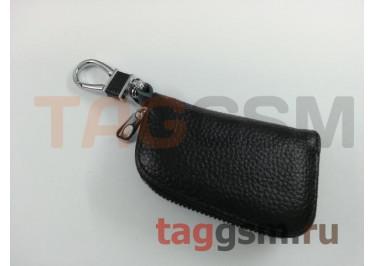 Чехол для автомобильных ключей Nissan (кожа) (черный) тип 1
