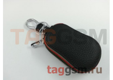 Чехол для автомобильных ключей Chevrolet (кожа) (черный) тип 3