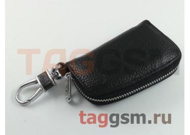 Чехол для автомобильных ключей Mazda (кожа) (черный) тип 1