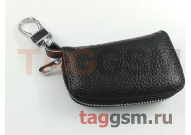 Чехол для автомобильных ключей Citroen (кожа) (черный) тип 1