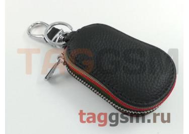 Чехол для автомобильных ключей Mitsubishi (кожа) (черный) тип 3