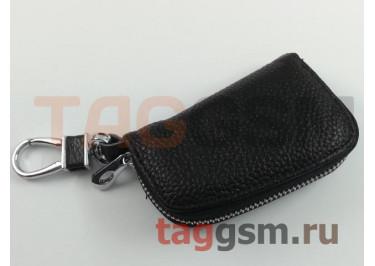 Чехол для автомобильных ключей Land Rover (кожа) (черный) тип 1
