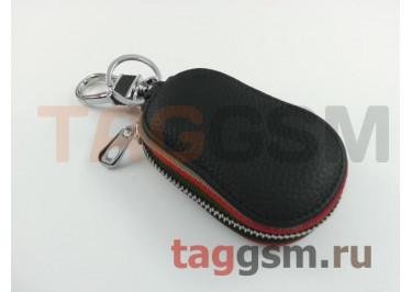 Чехол для автомобильных ключей Mazda (кожа) (черный) тип 3