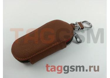 Чехол для автомобильных ключей Infiniti (кожа) (коричневый) тип 1