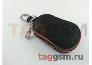 Чехол для автомобильных ключей BMW (кожа) (черный) тип 3