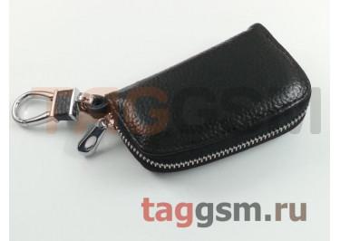 Чехол для автомобильных ключей Infiniti (кожа) (черный) тип 1