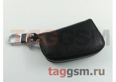 Чехол для автомобильных ключей Lexus (кожа) (черный) тип 1