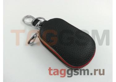 Чехол для автомобильных ключей Lexus (кожа) (черный) тип 3