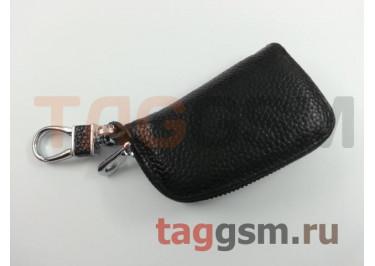 Чехол для автомобильных ключей Mercedes (кожа) (черный) тип 1