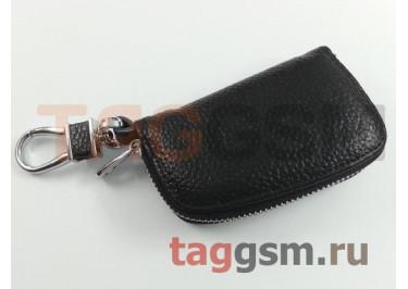 Чехол для автомобильных ключей Ford (кожа) (черный) тип 1