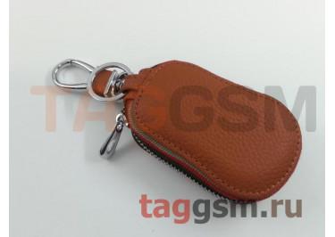 Чехол для автомобильных ключей Mercedes (кожа) (коричневый) тип 2