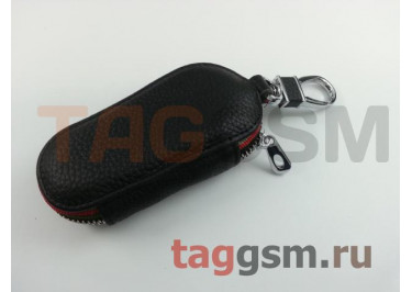 Чехол для автомобильных ключей Audi (кожа) (черный) тип 2
