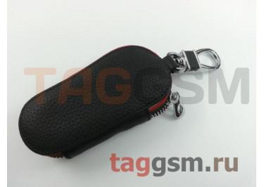 Чехол для автомобильных ключей Citroen (кожа) (черный) тип 2