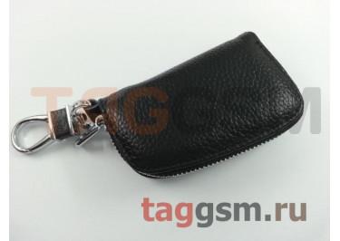 Чехол для автомобильных ключей Audi (кожа) (черный) тип 1