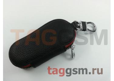 Чехол для автомобильных ключей Land Rover (кожа) (черный) тип 2