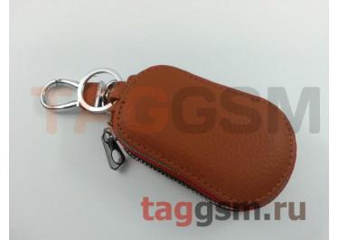 Чехол для автомобильных ключей Lexus (кожа) (коричневый) тип 2