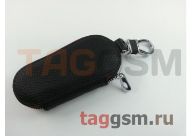 Чехол для автомобильных ключей Jeep (кожа) (черный) тип 2