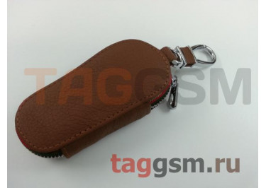 Чехол для автомобильных ключей Mercedes (кожа) (коричневый) тип 1