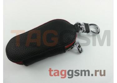 Чехол для автомобильных ключей Hundai (кожа) (черный) тип 2