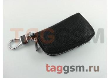 Чехол для автомобильных ключей Mitsubishi (кожа) (черный) тип 1