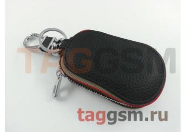 Чехол для автомобильных ключей Honda (кожа) (черный) тип 3