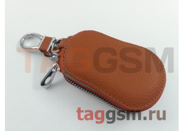 Чехол для автомобильных ключей Audi (кожа) (коричневый) тип 2