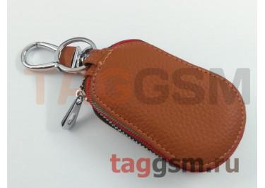 Чехол для автомобильных ключей Honda (кожа) (коричневый) тип 2
