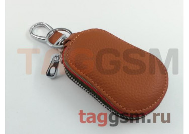 Чехол для автомобильных ключей Chevrolet (кожа) (коричневый) тип 2