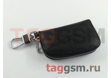 Чехол для автомобильных ключей Honda (кожа) (черный) тип 1