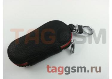 Чехол для автомобильных ключей Honda (кожа) (черный) тип 2