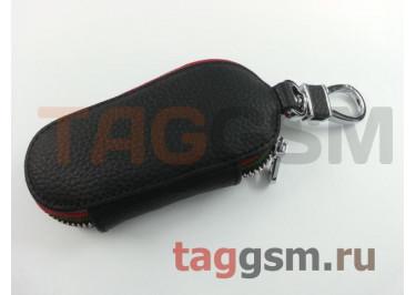 Чехол для автомобильных ключей BMW (кожа) (черный) тип 2
