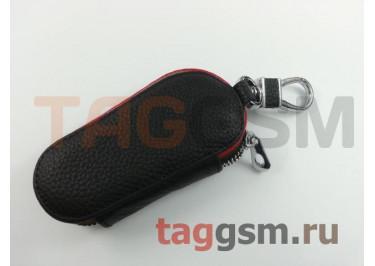 Чехол для автомобильных ключей Chevrolet (кожа) (черный) тип 2