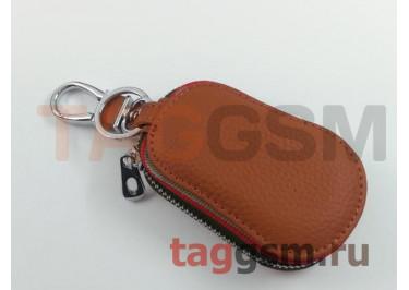 Чехол для автомобильных ключей BMW (кожа) (коричневый) тип 2