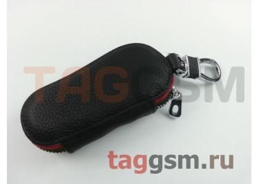 Чехол для автомобильных ключей Lexus (кожа) (черный) тип 2