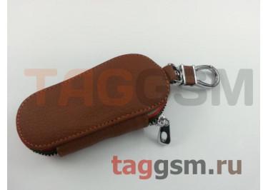 Чехол для автомобильных ключей Lexus (кожа) (коричневый) тип 1