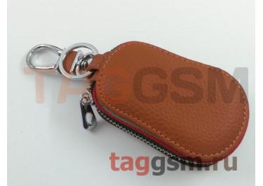 Чехол для автомобильных ключей Infiniti (кожа) (коричневый) тип 2