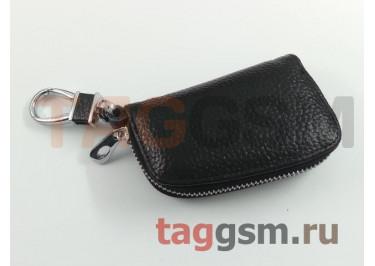 Чехол для автомобильных ключей Hundai (кожа) (черный) тип 1