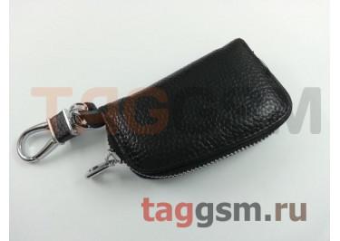 Чехол для автомобильных ключей Chevrolet (кожа) (черный) тип 1