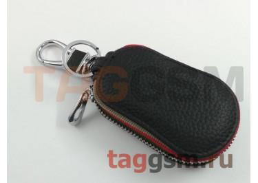 Чехол для автомобильных ключей Land Rover (кожа) (черный) тип 3