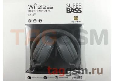 Беспроводные наушники (полноразмерные Bluetooth) (серый) Boyi boyi-10
