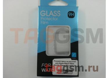 Пленка / стекло на дисплей для Apple Watch 42мм (Gorilla Glass) 5D (черный)