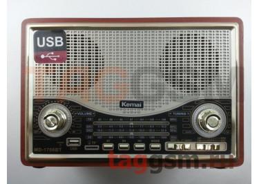 Колонка (MD-1706BTch) (Bluetooth+USB+SD+MicroSD+FM) (серебро)