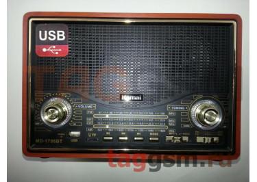 Колонка (MD-1706BTch) (Bluetooth+USB+SD+MicroSD+FM) (черная)