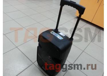 Колонка (K9ch) (Bluetooth+USB+MicroSD+FM+AUX+LED+-микрофон+пульт)(черная)