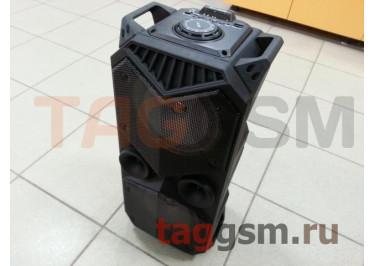 Колонка (BT-1819) (Bluetooth+USB+MicroSD+FM+LED+AUX+микрофон+пульт+дисплей) (черная)