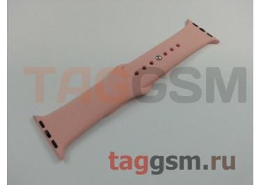 Ремешок для Apple Watch 38mm / 40mm (силикон, розовый), размер S / M