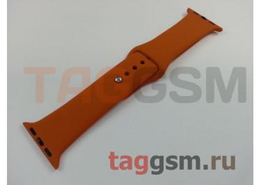 Ремешок для Apple Watch 38mm / 40mm (силикон, оранжевый), размер S / M