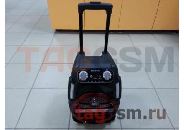 Колонка (MH-9ch) (Bluetooth+USB+MicroSD+FM+AUX+LED+ BTмикрофон+дисплей+пульт) (красная)