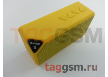 Колонка портативная (Bluetooth+FM+USB+MicroSD) (желтая) X3